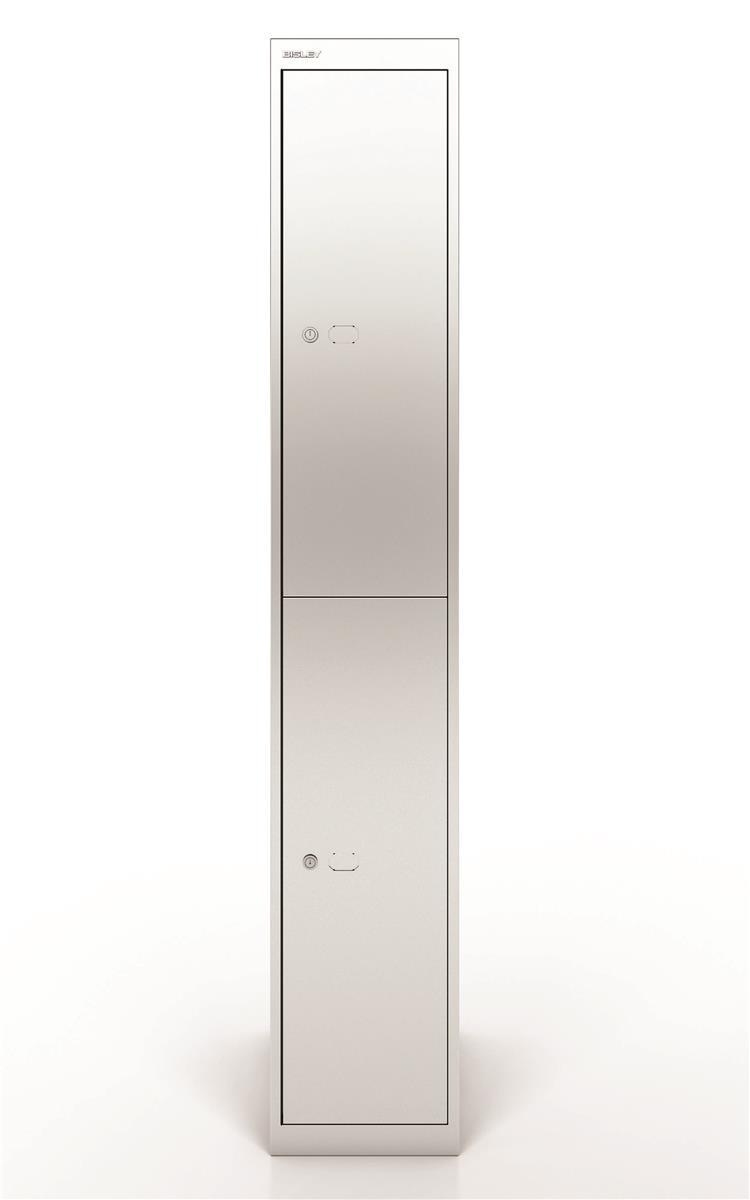 Image for Bisley Steel Locker 457 Two Door Silver