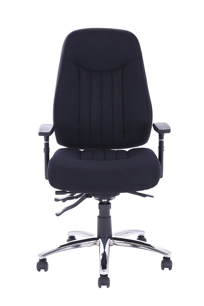 Image for Sonix Operator Chair Height-adjustable Arms Flat Packed Fabric Black