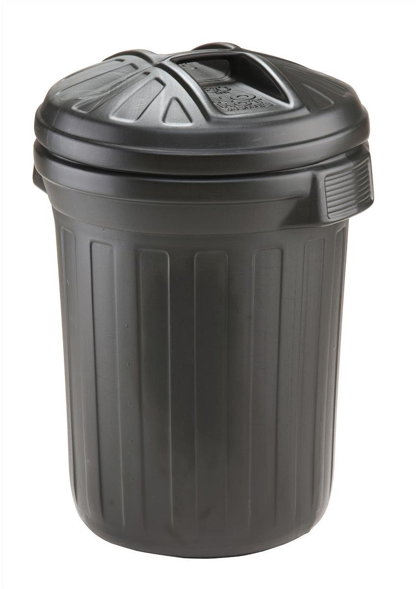 Image for Refuse Bin Secure Push On Lid 80 Litre Black