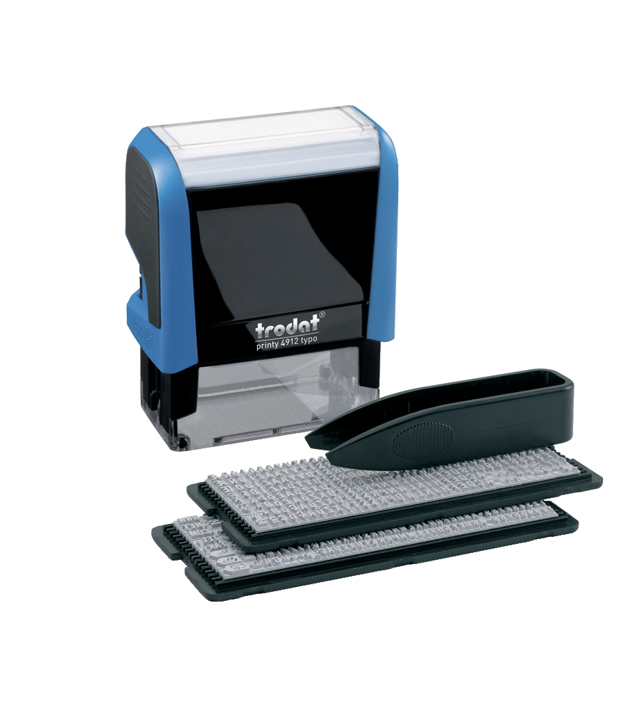 Image for Trodat 4912 Printy Typo D-I-Y Stamp Kits Ink Tweezers and Lettering 3mm 4mm 4 Line Ref 43197