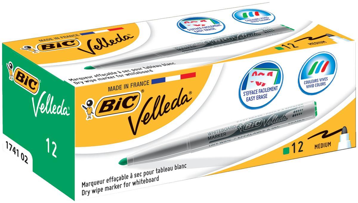 Image for Bic Velleda 1741 Medium Bullet Tip Whiteboard Marker 1.4mm Width Assorted Ref 1199001748 [Wallet 8]