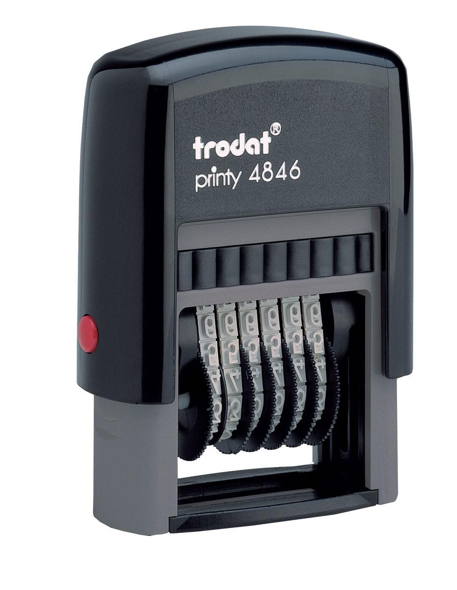 Image for Trodat Printy 4846 Numberer Stamp Plastic Self-inking 6-digit 24x4mm Ref 89376