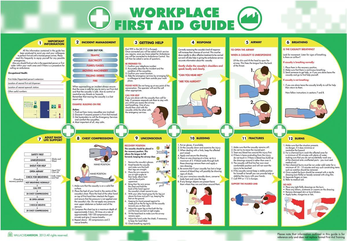 photograph about Printable First Aid Guides called Office environment 1st Help Package HS1 1-20 folks Keeley Travis