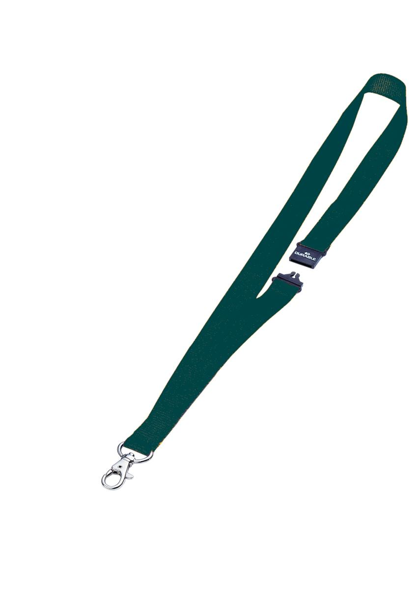 Durable Necklace Textile with Safety Closure for Name Badge Green Ref 8137-05 [Pack 10]