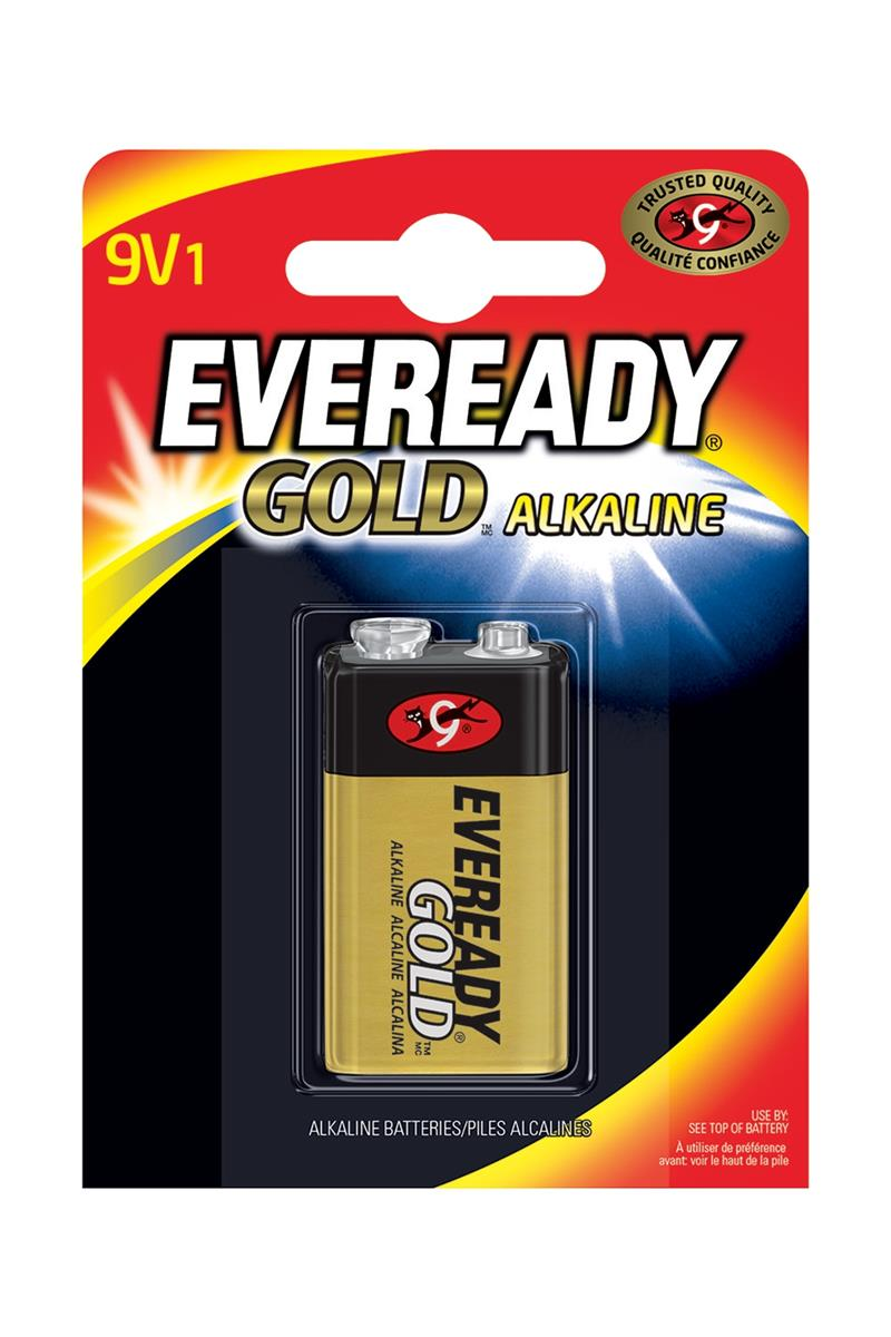 Eveready Gold Alkaline Battery 9V/6LR61 Ref 638407