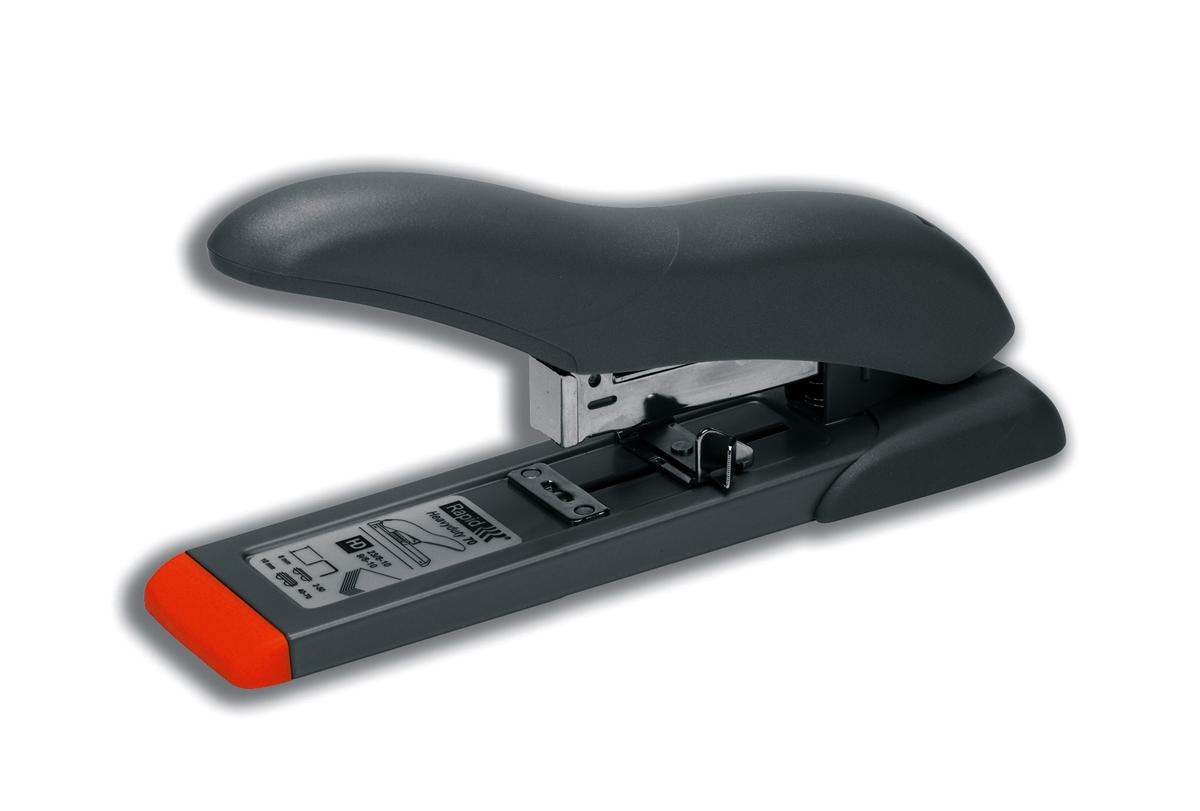 Rapid HD70 Heavy Duty Stapler 70 Sheet Capacity 53mm Stapling Depth Silver/Orange Ref 21281405