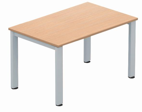 Image for Sonix Meeting Table Rectangular Silver Legs 1200mm Beech