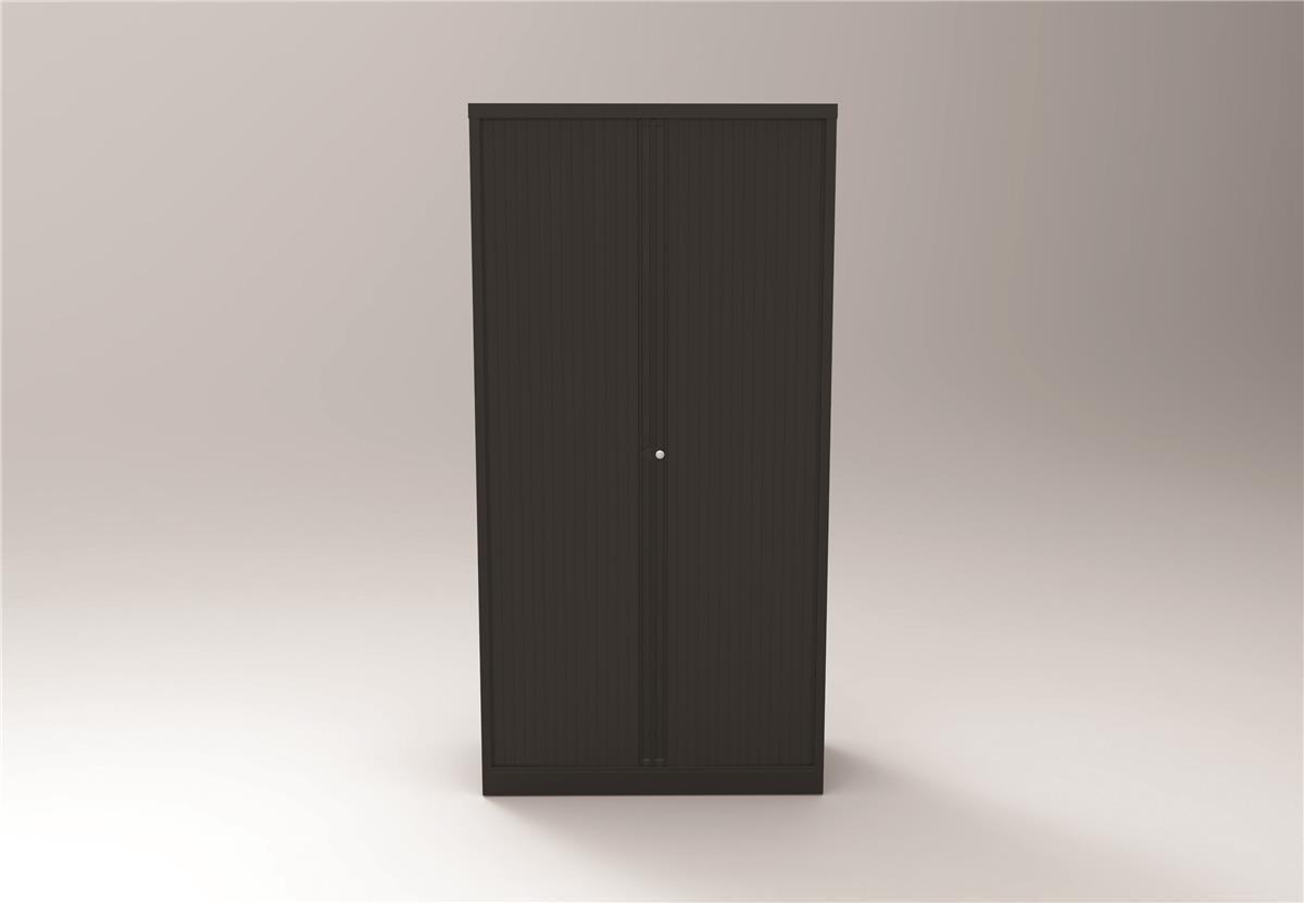 Image for Bisley Side Opening Tambour Door Cupboard H1970mm Black