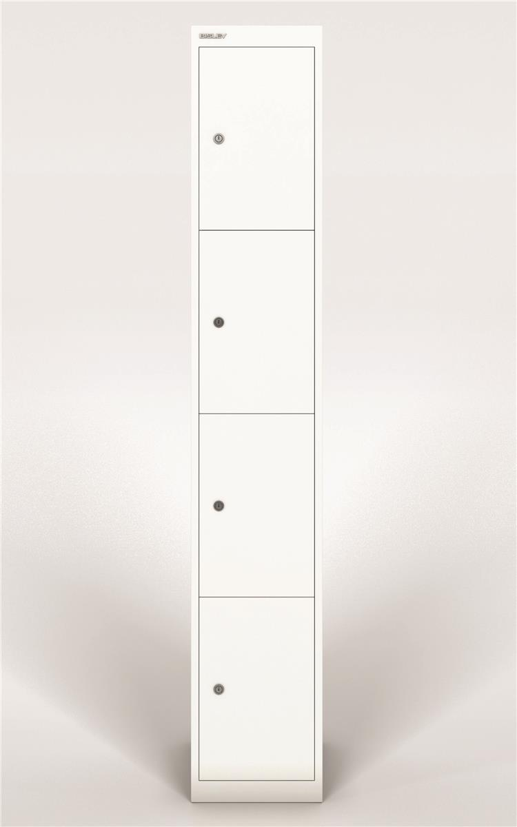 Image for Bisley Steel Locker 305 Four Door Chalk White