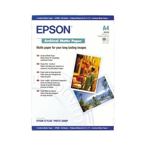 Image for Epson Archival Matte Paper 192gsm A4 Ref C13S041342 [Pack 50]