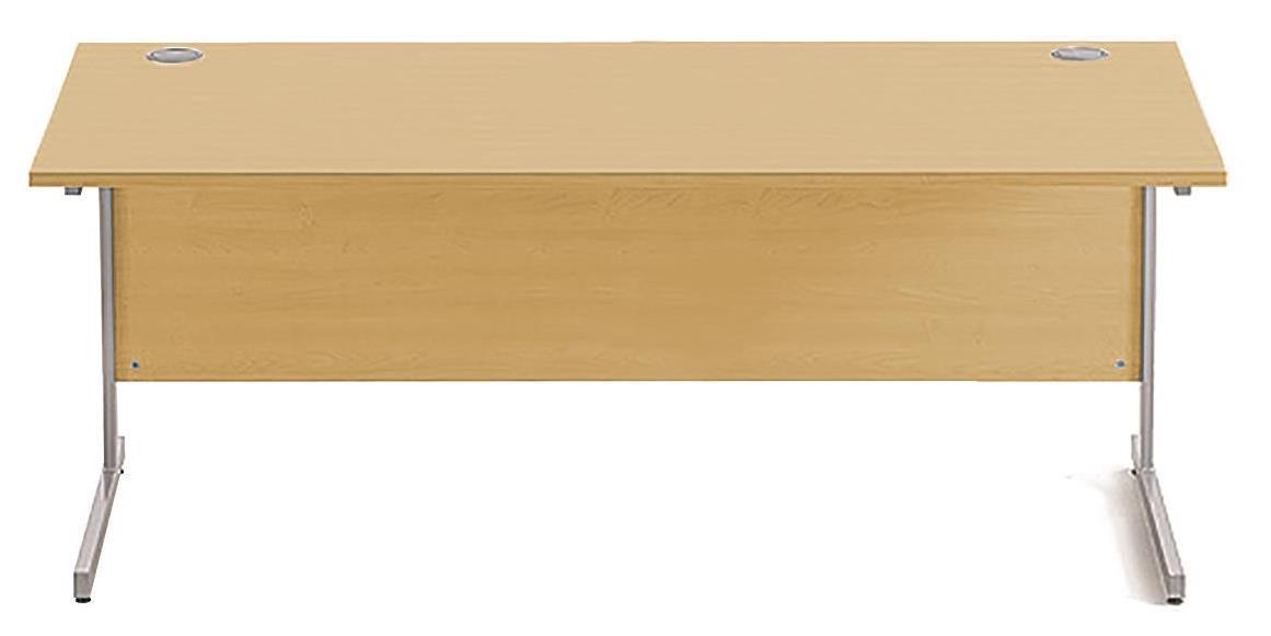 Image for Sonix Cantilever Desk Rectangular Silver Cantilever Leg 1800mm Natural Oak