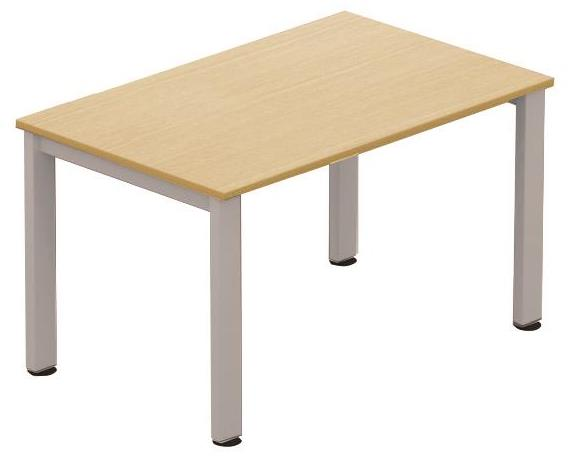 Image for Sonix Meeting Table Rectangular Silver Legs 1200mm Oak