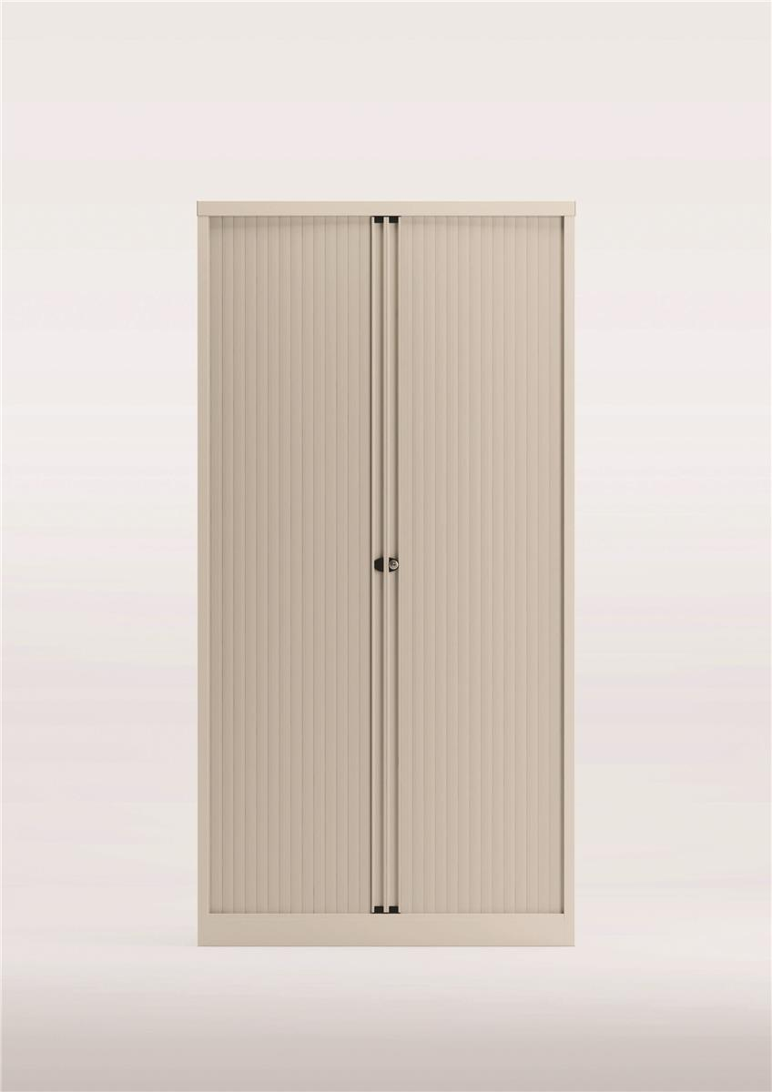 Image for Bisley Side Opening Tambour Door Cupboard H1970mm White