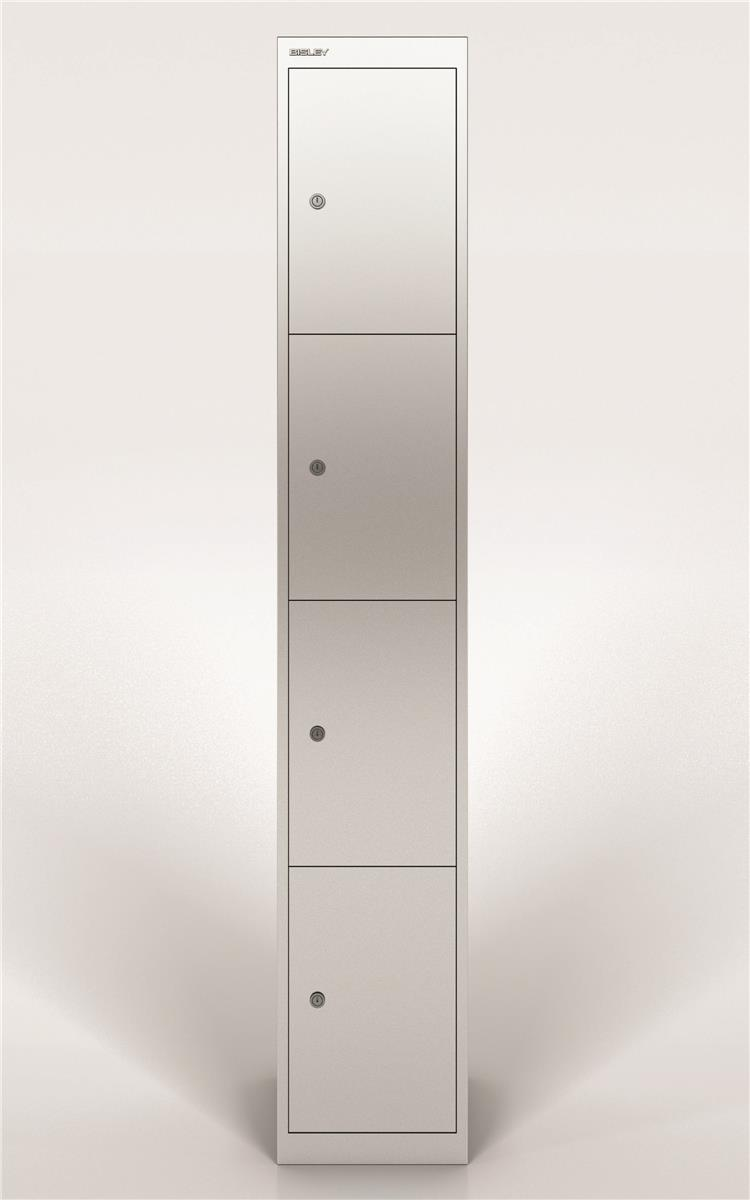 Image for Bisley Steel Locker 305 Four Door Silver
