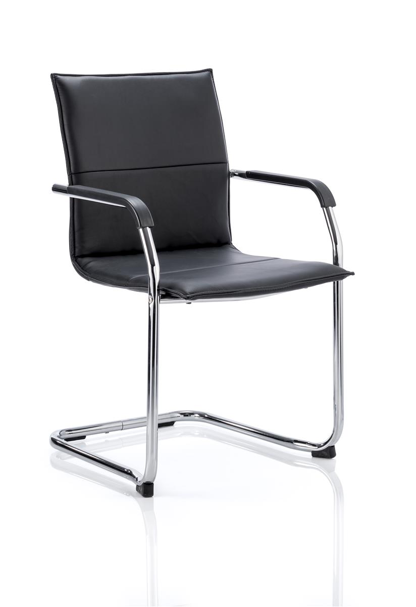 Sonix Visitor Chair Cantilever Static Arms Pre-assembled Fabric Black