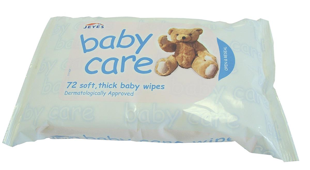 Jeyes Baby Wipes Soft Spun Lace Fabric Ref 0706063 [Pack 72]
