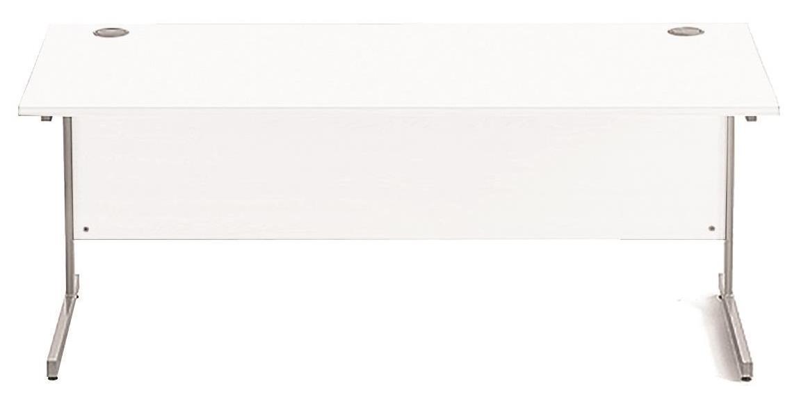 Image for Sonix Cantilever Desk Rectangular Silver Cantilever Leg 1800mm Polar White