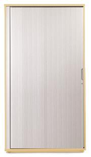 Image for Sonix Tambour Door Cupboard Medium Acer Maple/Silver