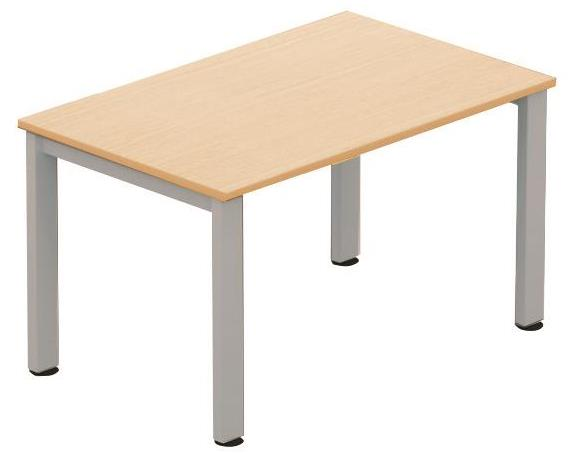 Image for Sonix Meeting Table Rectangular Silver Legs 1200mm Maple