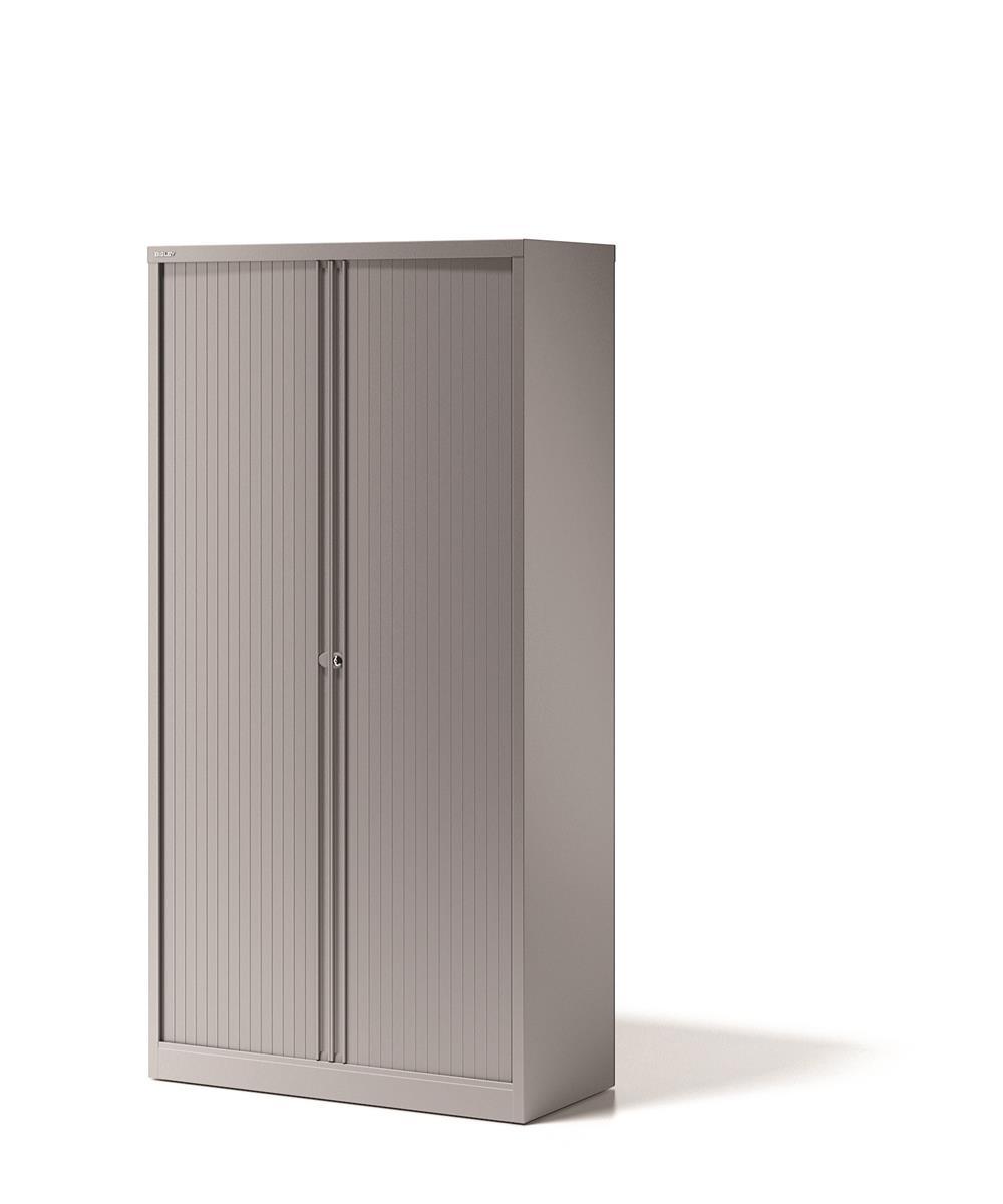 Image for Bisley Side Opening Tambour Door Cupboard H1970mm Silver