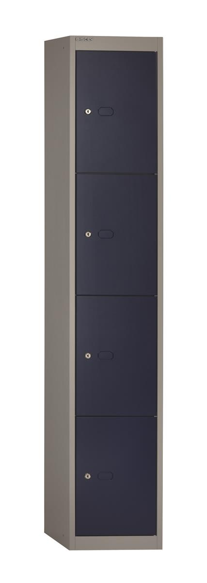 Image for Bisley Steel Locker 305 Four Door Grey/Blue