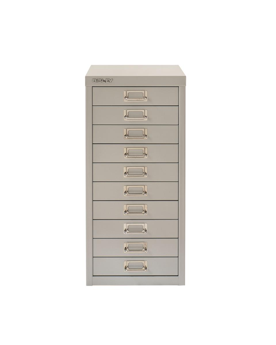 Bisley SoHo Multidrawers 10-drawer 51mm Drawer Height Silver
