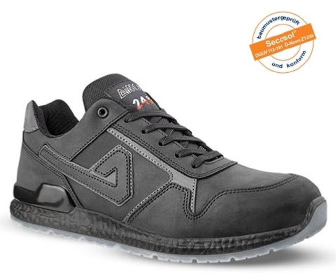 Image for Aimont Calvin Safety Trainers Protective Toecap Size 12 Black Ref AB10612 [Pair]