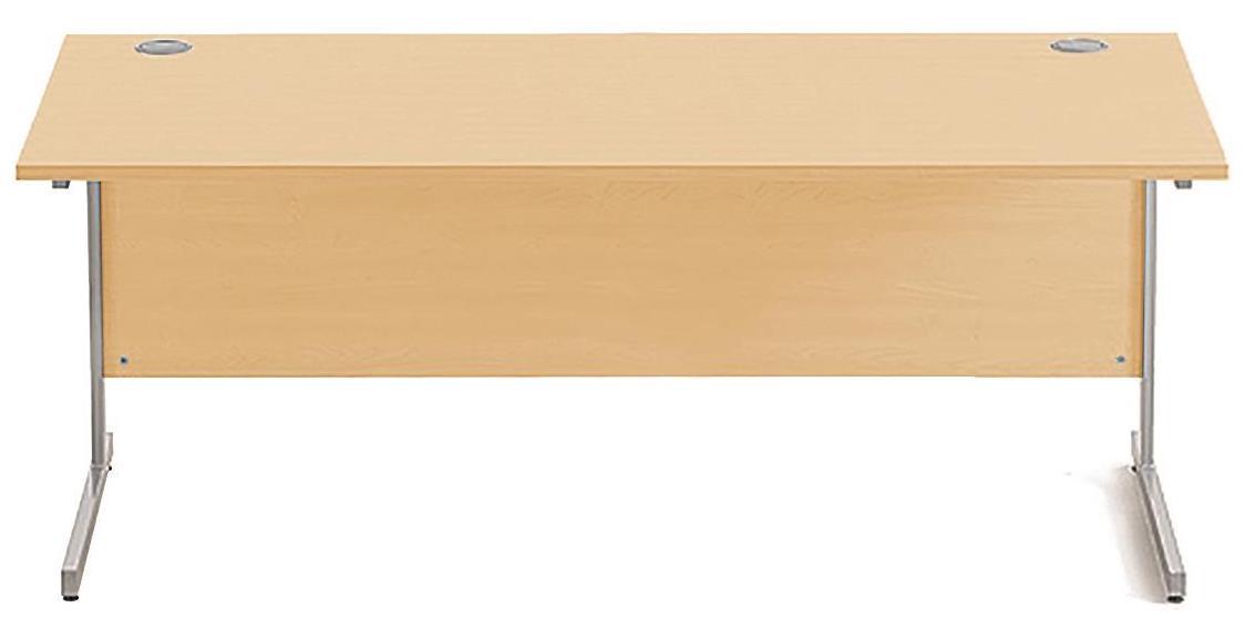 Image for Sonix Cantilever Desk Rectangular Silver Cantilever Leg 1800mm Acer Maple