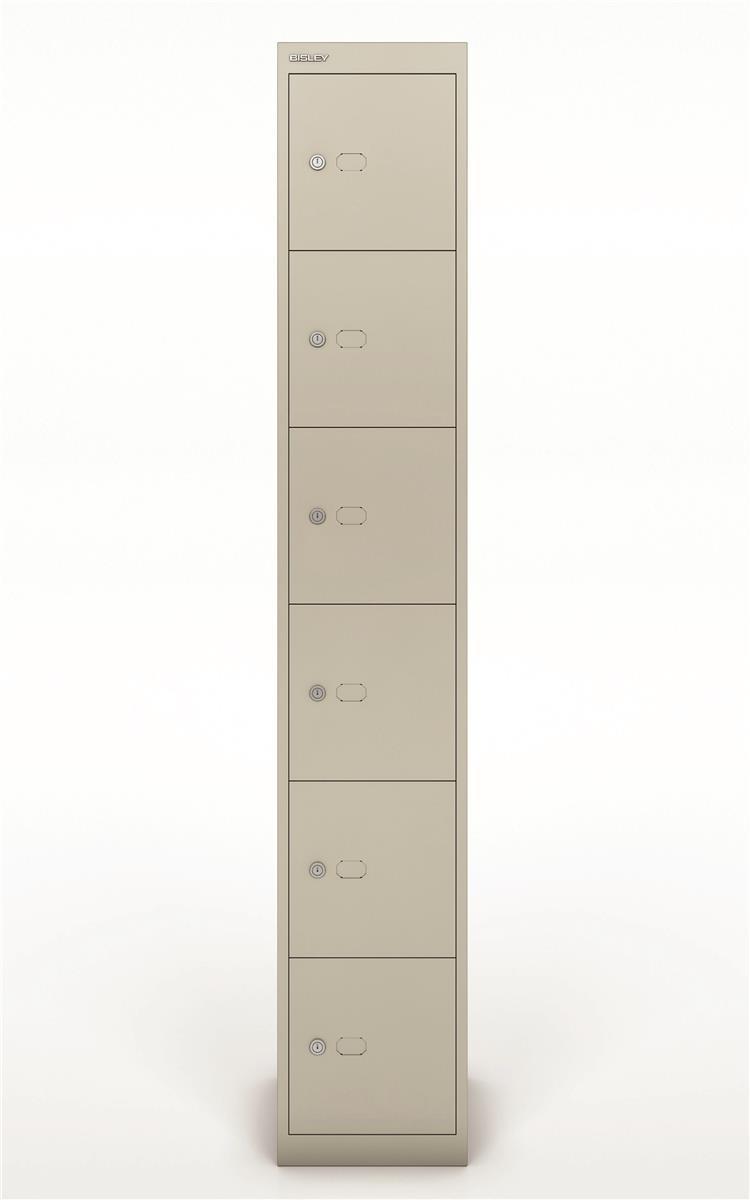 Image for Bisley Steel Locker 305 Six Door Goose Grey