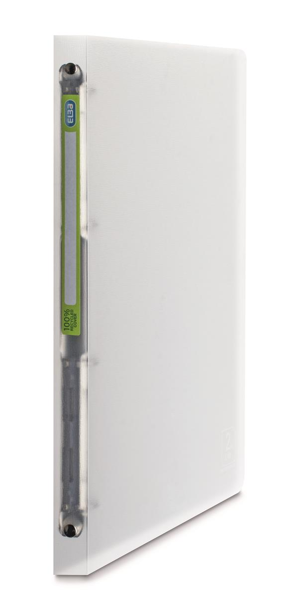 Image for Elba 2nd Life 4 Ring Binder 20mm Spine Recycled Polypropylene A4 Clear Ref 400059561