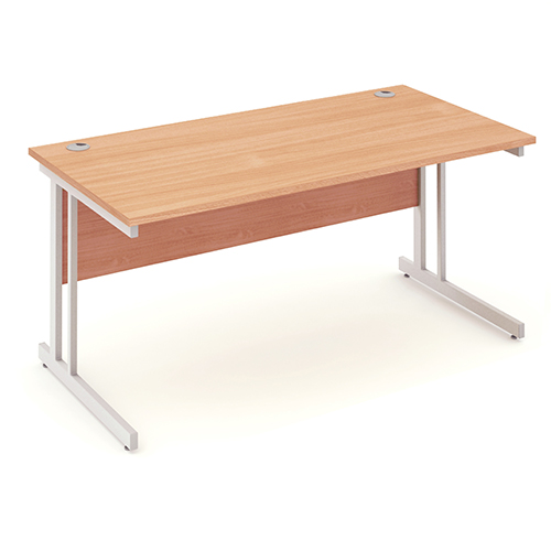 Trexus Rectangular Desk Cantilever Leg 1600mm Beech