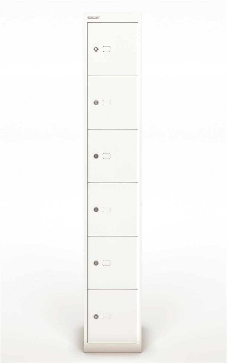 Image for Bisley Steel Locker 305 Six Door Chalk White