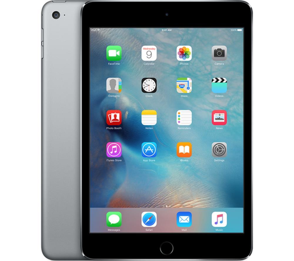 Image for Apple iPad Mini 4 WiFi 128GB 7.9inch A8 Chip Retina Display Bluetooth Space Grey Ref MK9N2B/A