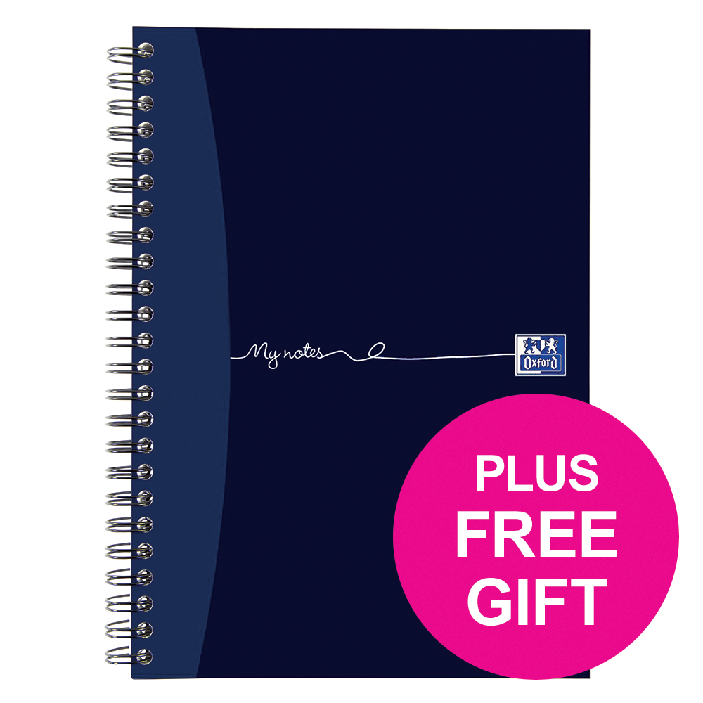 Oxford MyNotes A4 Wirebound Notebook Ruled 200 Pages Margin [Free Chocolates] Jan-Dec 2018