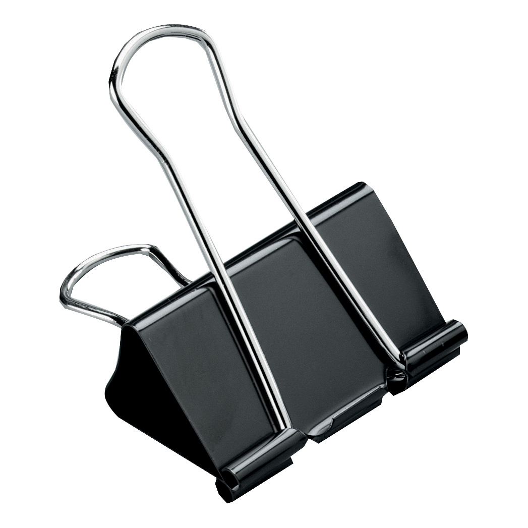 5 Star Office Foldback Clips 41mm Black [Pack 12]