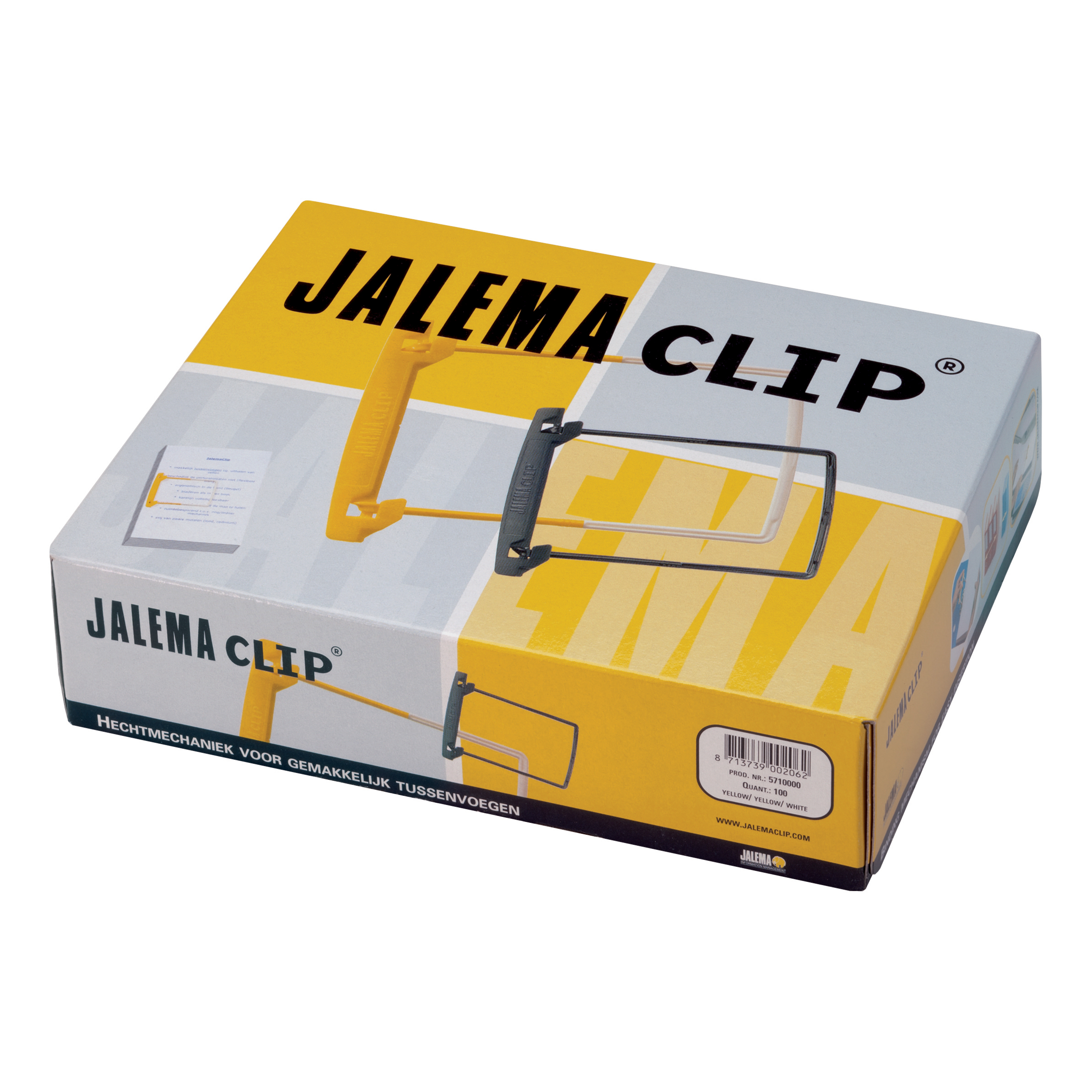 Jalema Filing Clip Yellow/White Ref 5710000 Pack 100