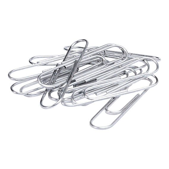 Clips 5 Star Office Paperclips Metal Large Length 33mm Plain Pack 10x100