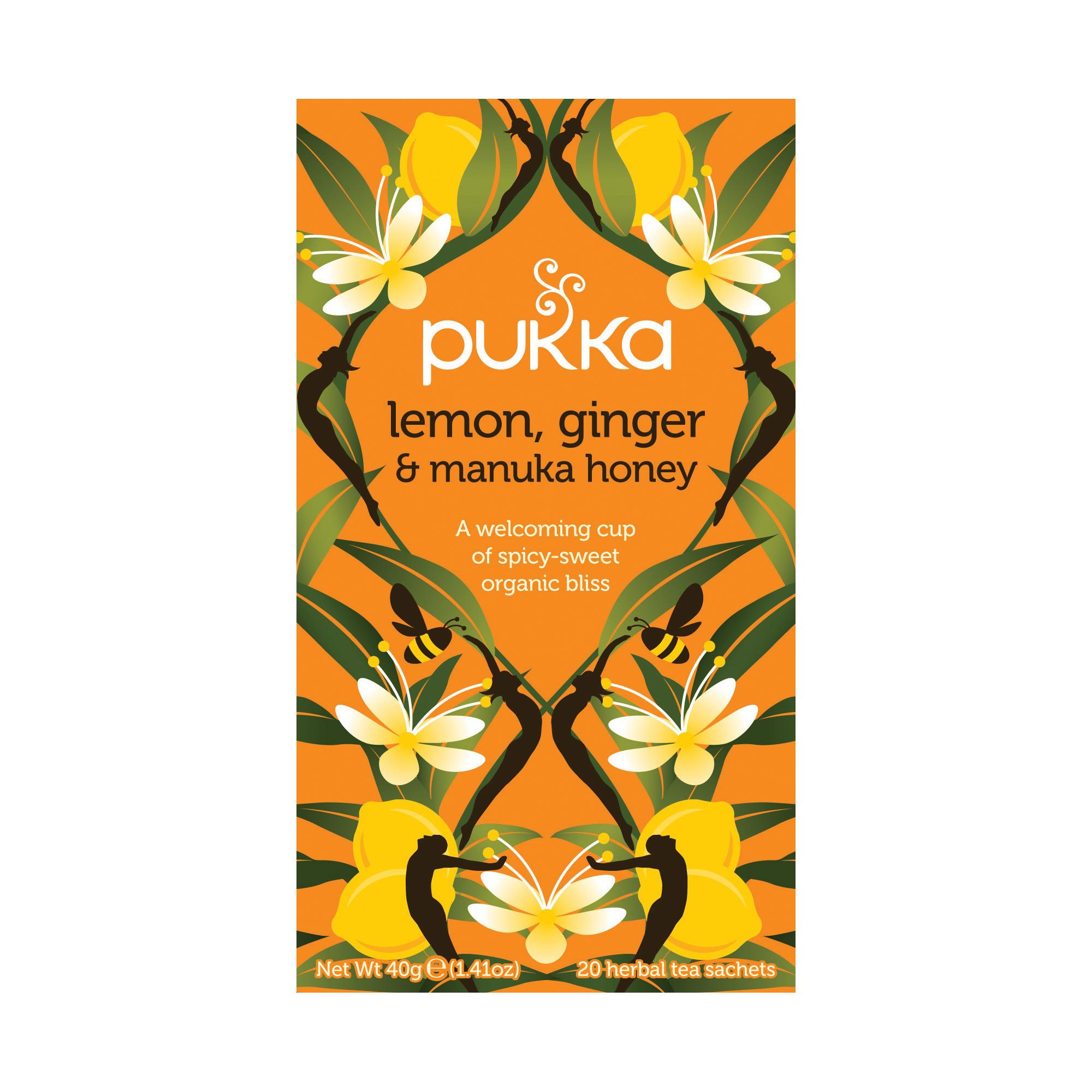 Pukka Individually Enveloped Tea Bags Lemon Ginger and Manuka Honey Ref 5060229011541 [Pack 20]
