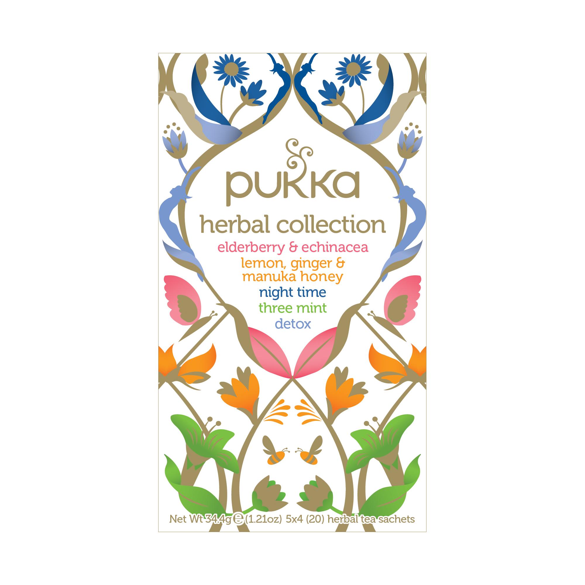 Pukka Individually Enveloped Tea Bags Herbal Heroes Collection Ref 5060229012388 [Pack 20]