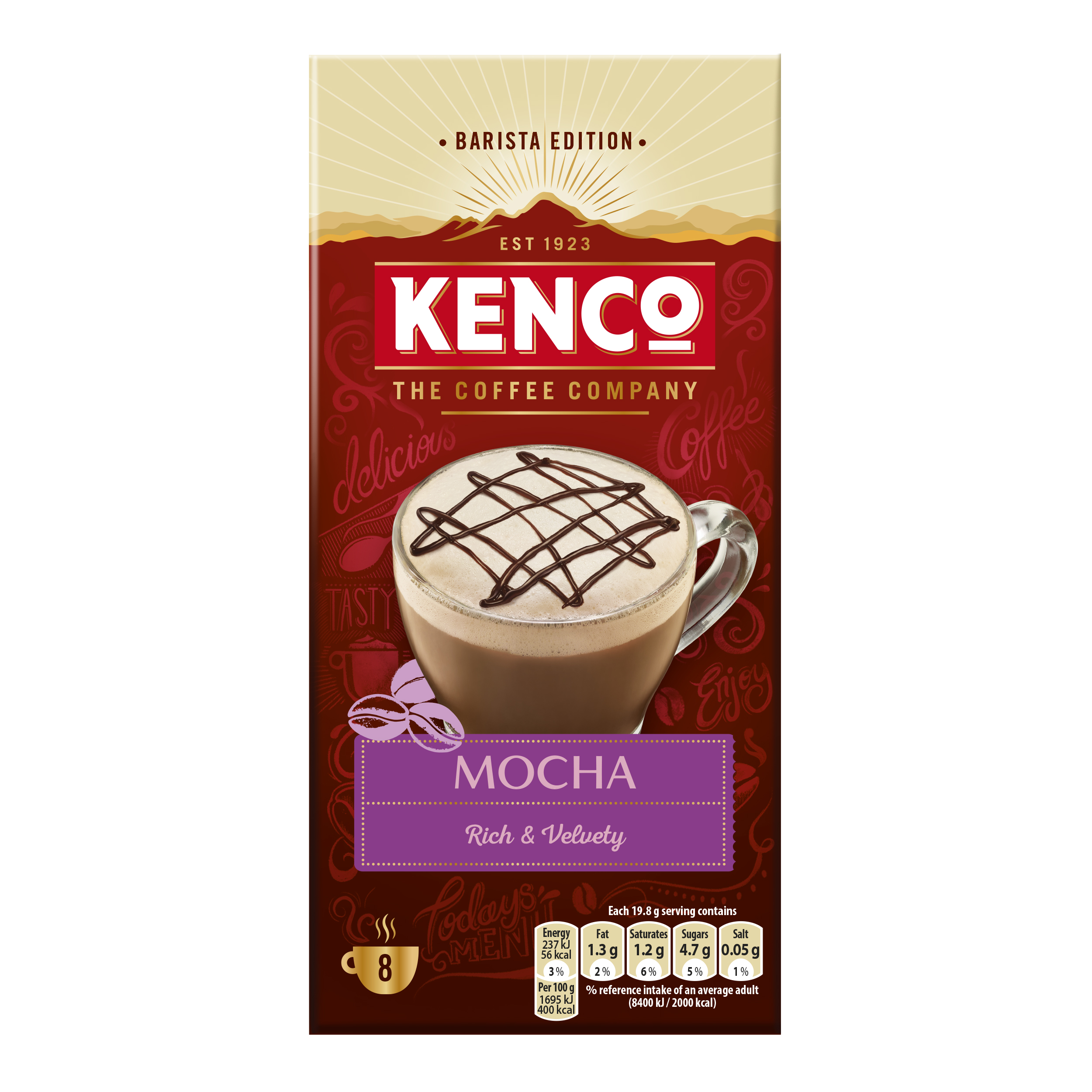 Coffee Kenco Mocha Instant Sachet Ref 4041494 Pack 8 x 5 Boxes