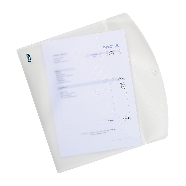 Elba Translucent Wallet PP Stud Fastner A4 Translucent Clr Ref 100080924 Pack 5 3 For 2 Jan-Dec 2020