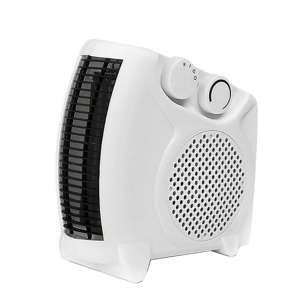 Circulation heaters 2kW Upright and Flat Fan Heater with Auto Thermostat Heat Settings White Ref HG01166
