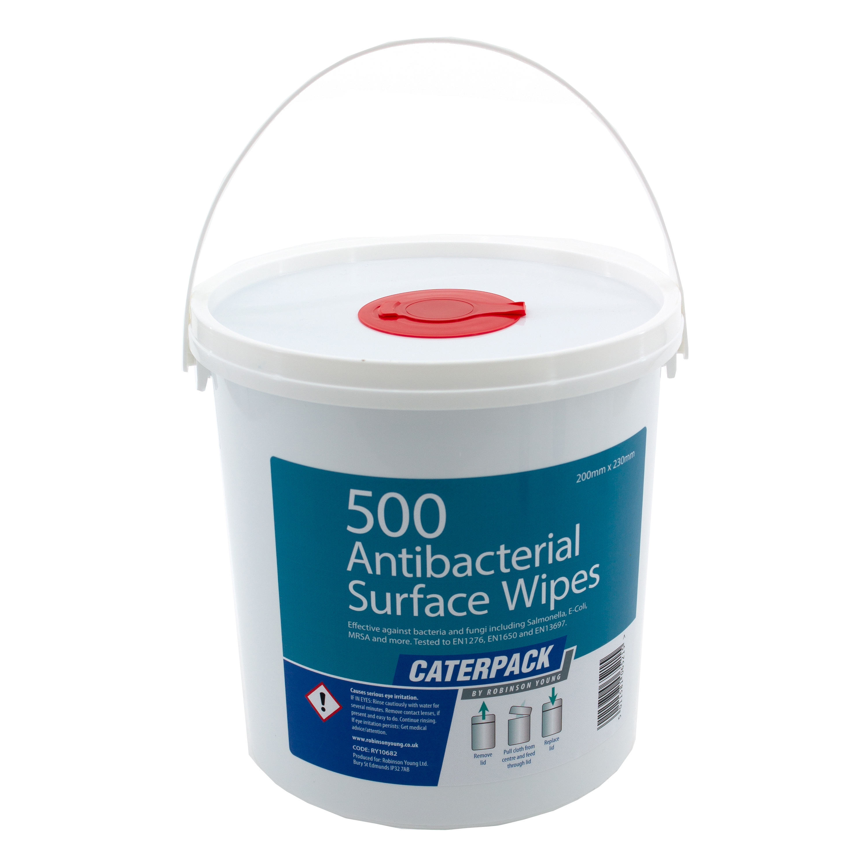 Disinfectant Wipes Robinson Young Caterpack Wipes Antibacterial Disinfectant 200x230mm Ref 10682 Pack 500