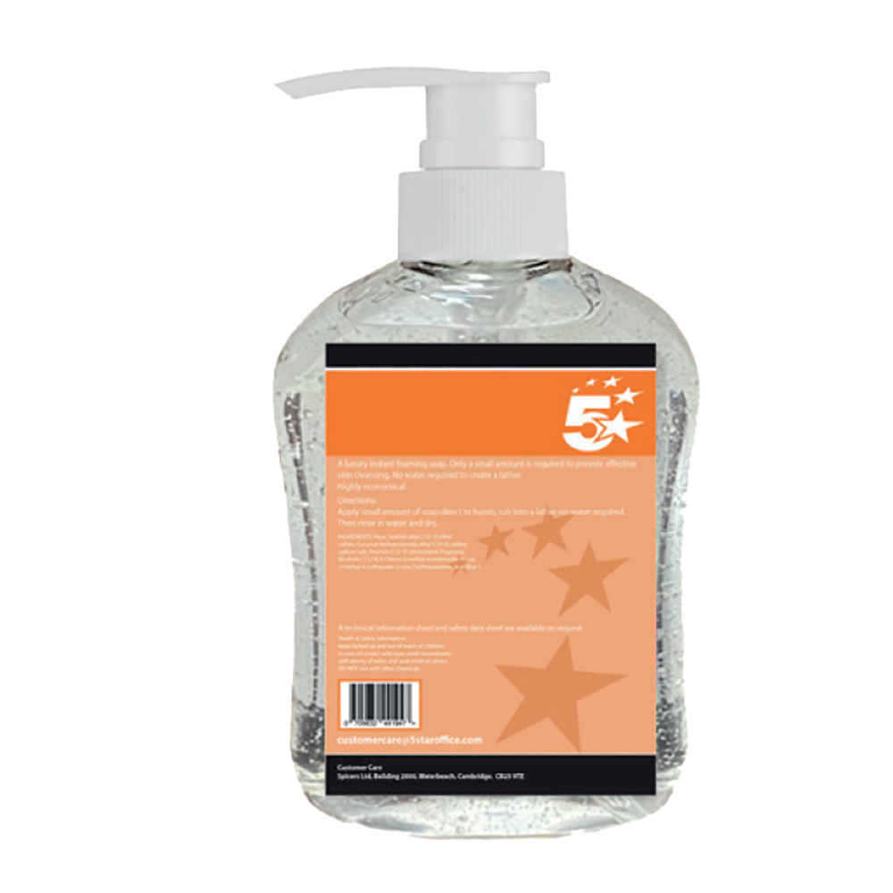 Institutional soap or lotion dispensers 5 Star Facilities Hand sanitiser 70% Alcohol 500ml With Pump Pack 6