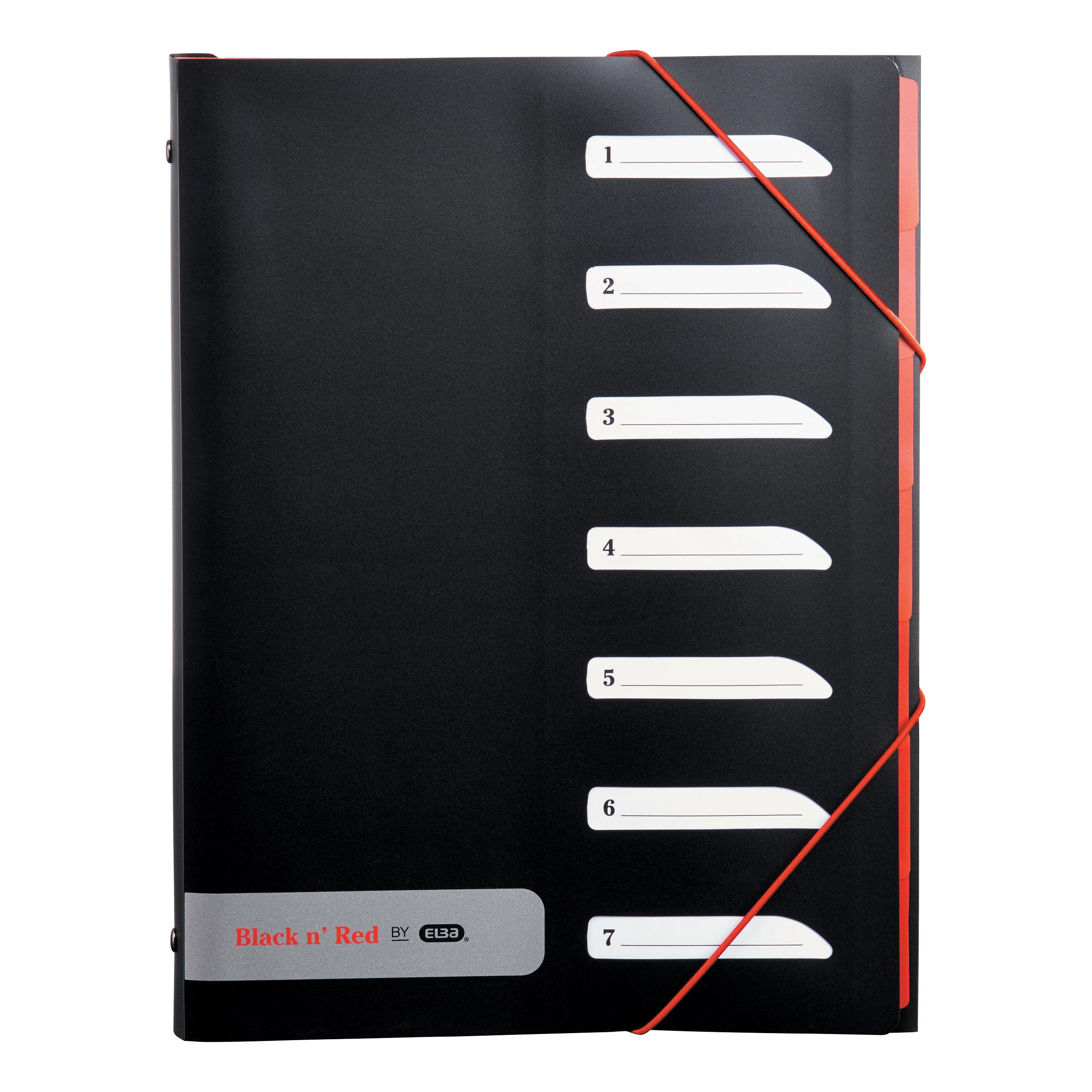 Black N Red 7 Part Sorter Ref 400051534 [2 For 1] Jan-Dec 2019