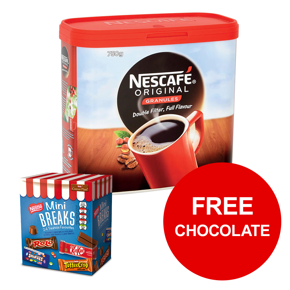 Nescafe Gold Blend Instant Coffee Tin 750g Ref 12339209 [FREE Chocolates] Jan-Mar 2019