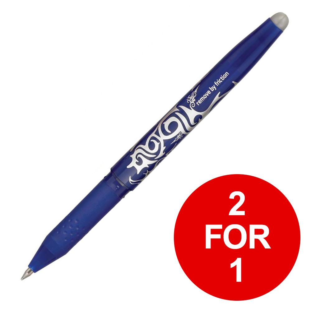 Pilot FriXion Rollerball Pen Eraser Rewriter 0.7mm Tip Blue Ref 224101203 [Pack 12] [2 for 1] Feb 2019