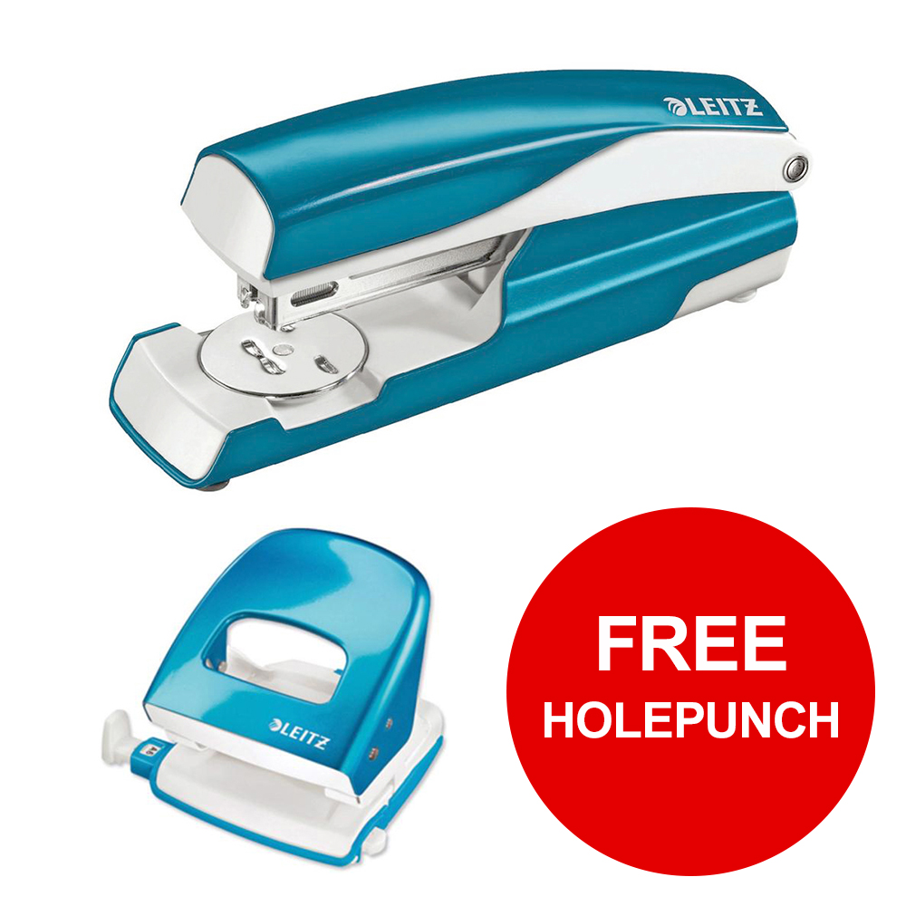 Leitz NeXXt WOW Stapler 3mm 30 Sheet Blue Ref 55021036L [FREE Holepunch] Jan-Mar 2019