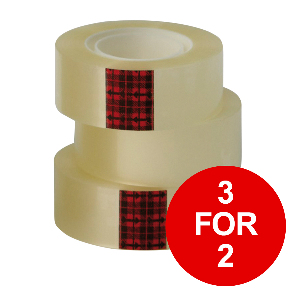 Scotch Easy Tear Transparent Tape 25mmx66m Ref ET2566T6 [Pack 6] [3 for 2] Jan-Dec 2019