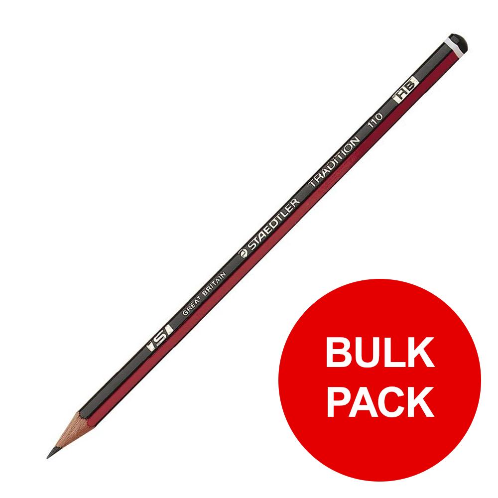Staedtler 110 Tradition Pencil Cedar Wood HB Ref 110-HB Pack 144 Bulk Pack Jan-Dec 2019
